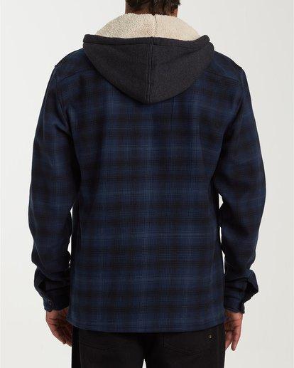 2 Furnace Bonded Hooded Flannel Blue M537WBFB Billabong