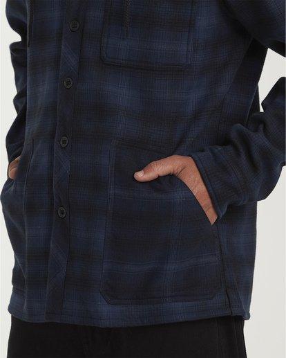3 Furnace Bonded Hooded Flannel Blue M537WBFB Billabong