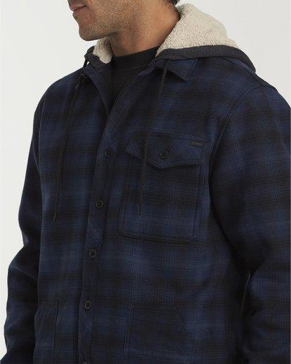 4 Furnace Bonded Hooded Flannel Blue M537WBFB Billabong