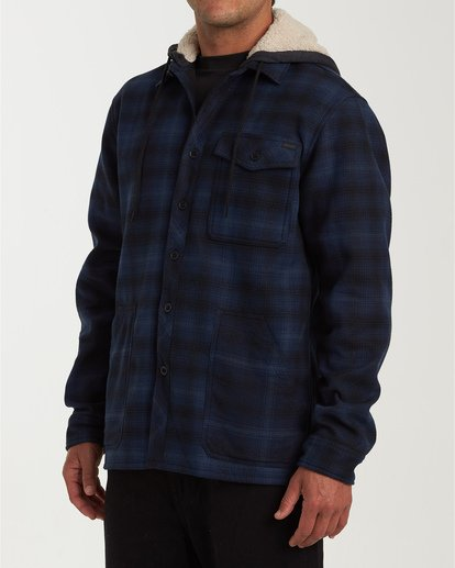 1 Furnace Bonded Hooded Flannel Blue M537WBFB Billabong