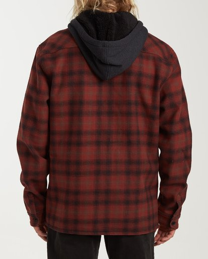 2 Furnace Bonded Hooded Flannel Red M537WBFB Billabong