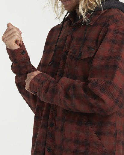 5 Furnace Bonded Hooded Flannel Red M537WBFB Billabong