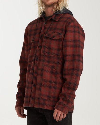 1 Furnace Bonded Hooded Flannel Red M537WBFB Billabong