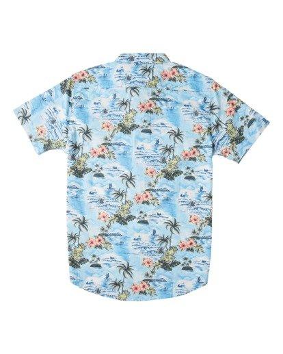 4 Sundays Hawaii Short Sleeve Shirt Blue M5481BSH Billabong