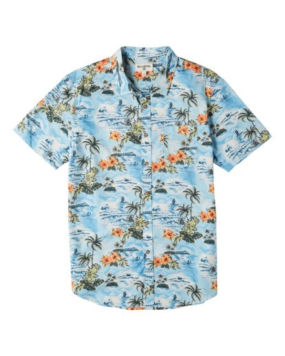 3 Sundays Hawaii Short Sleeve Shirt Blue M5481BSH Billabong