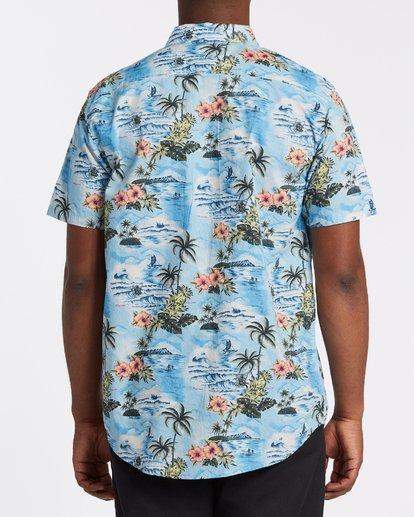 2 Sundays Hawaii Short Sleeve Shirt Blue M5481BSH Billabong
