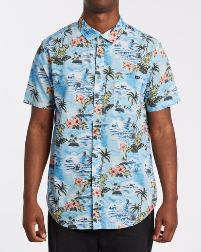 0 Sundays Hawaii Short Sleeve Shirt Blue M5481BSH Billabong