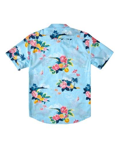 1 Sundays Floral Hawaii Short Sleeve Shirt Blue M5483BSD Billabong