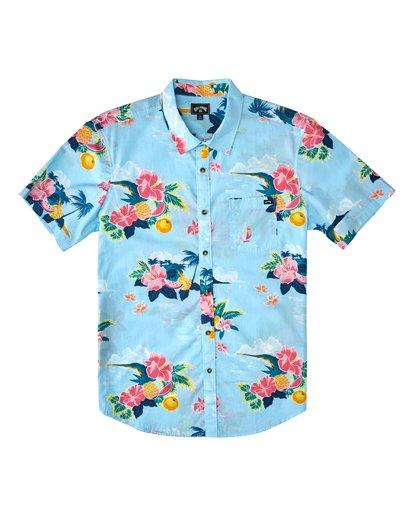 0 Sundays Floral Hawaii Short Sleeve Shirt Blue M5483BSD Billabong