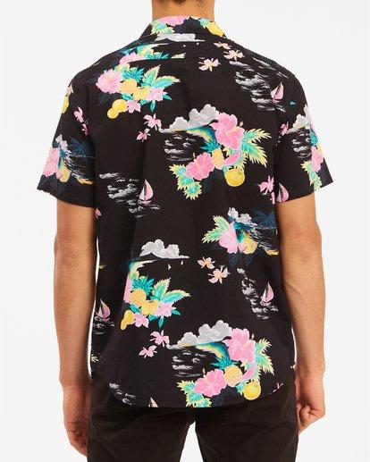 2 Sundays Floral Hawaii Short Sleeve Shirt Black M5483BSD Billabong