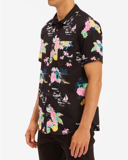 1 Sundays Floral Hawaii Short Sleeve Shirt Black M5483BSD Billabong