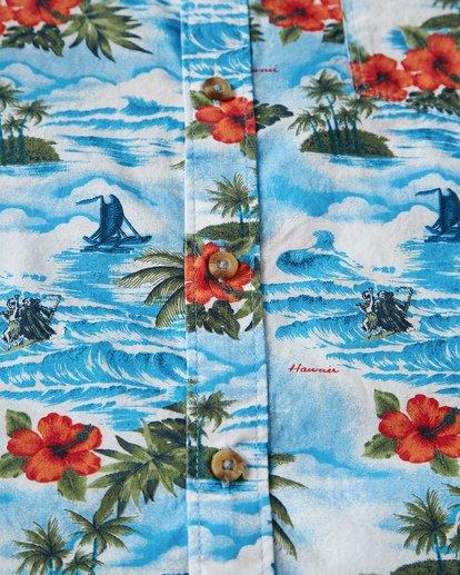 2 Sundays Hawaii Short Sleeve Shirt Blue M548VBSH Billabong