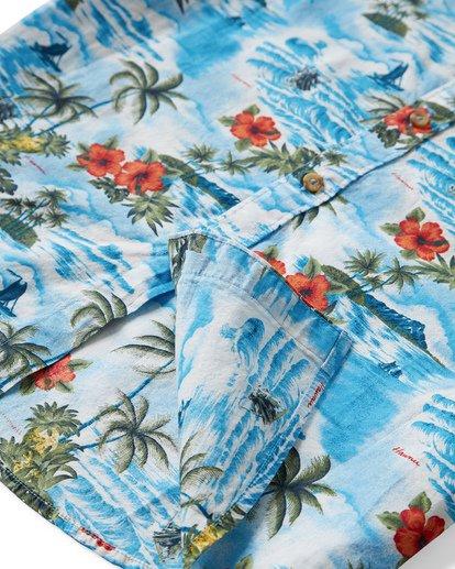3 Sundays Hawaii Short Sleeve Shirt Blue M548VBSH Billabong