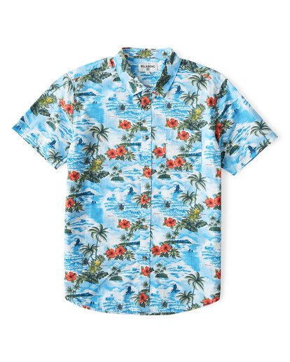 0 Sundays Hawaii Short Sleeve Shirt Blue M548VBSH Billabong