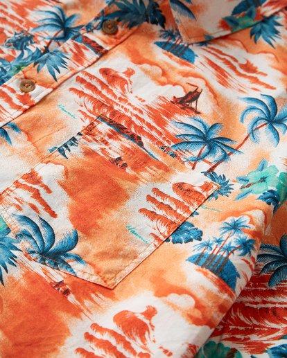 1 Sundays Hawaii Short Sleeve Shirt Orange M548VBSH Billabong