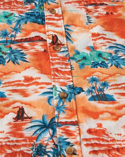 2 Sundays Hawaii Short Sleeve Shirt Orange M548VBSH Billabong