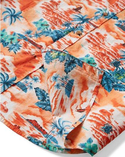 3 Sundays Hawaii Short Sleeve Shirt Orange M548VBSH Billabong