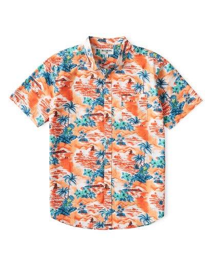 0 Sundays Hawaii Short Sleeve Shirt Orange M548VBSH Billabong