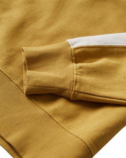 2 Wave Washed Crew Sweater Yellow M613VBWC Billabong