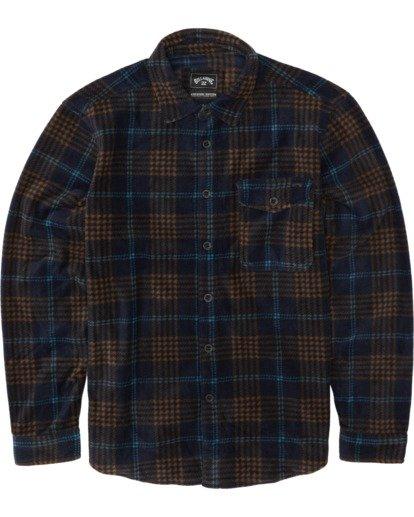 3 Furnace Flannel Shirt Blue M6271BFF Billabong