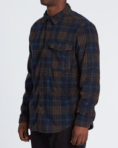 1 Furnace Flannel Shirt Blue M6271BFF Billabong