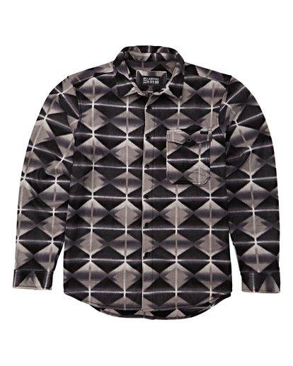 5 Furnace Flannel Shirt Grey M627VBFF Billabong