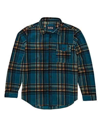 5 Furnace Flannel Shirt Green M627VBFF Billabong