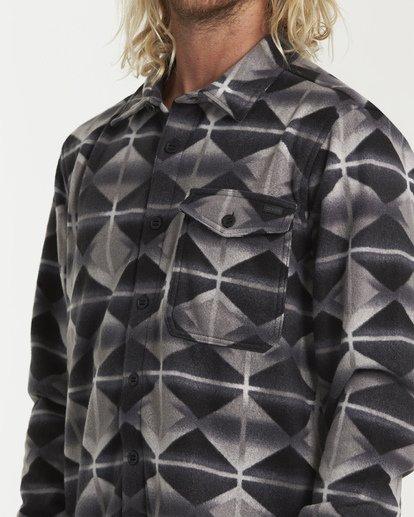 3 Furnace Flannel Shirt Grey M627VBFF Billabong