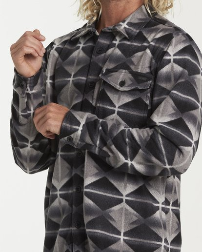 4 Furnace Flannel Shirt Grey M627VBFF Billabong