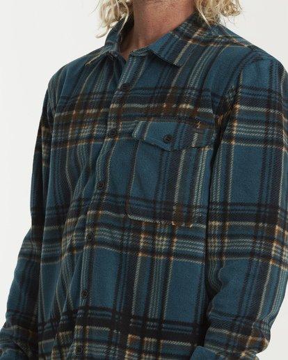 3 Furnace Flannel Shirt Green M627VBFF Billabong