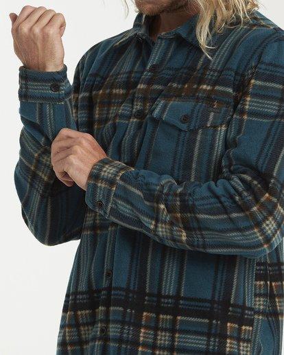 4 Furnace Flannel Shirt Green M627VBFF Billabong