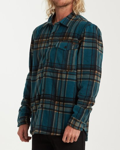 1 Furnace Flannel Shirt Green M627VBFF Billabong