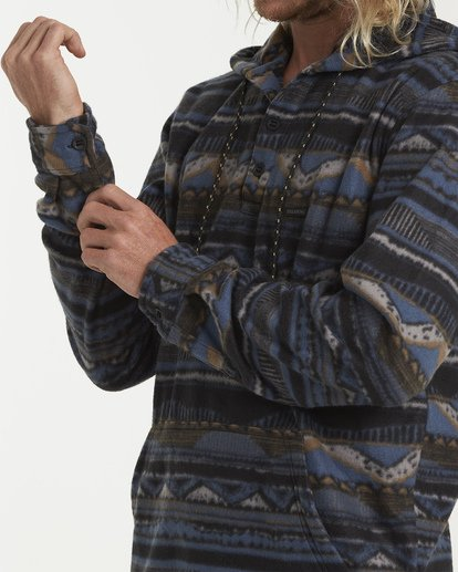 4 Furnace Long Sleeve Anorak Blue M633VBFA Billabong