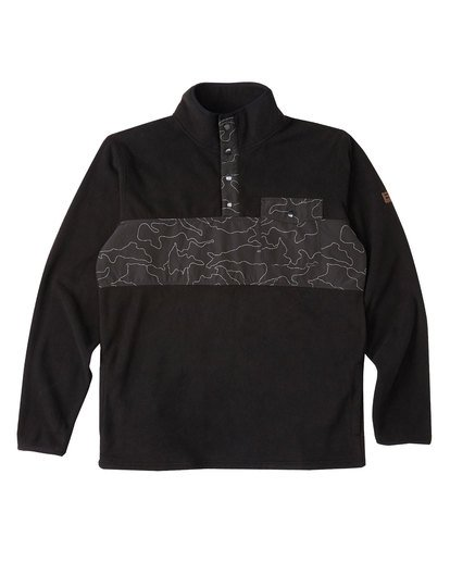 3 Ridgeback Mock Neck Pullover Black M6401BRI Billabong