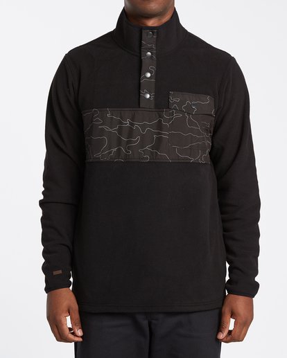 0 Ridgeback Mock Neck Pullover Black M6401BRI Billabong