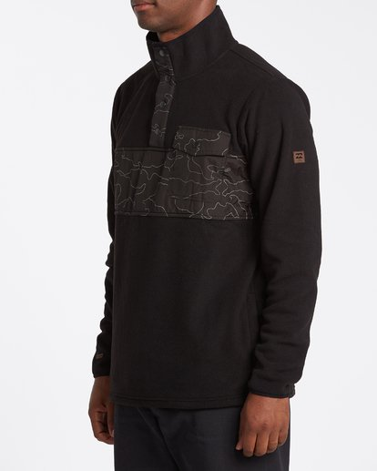 1 Ridgeback Mock Neck Pullover Black M6401BRI Billabong