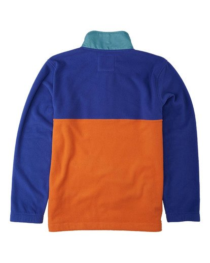 5 Boundary Mock Lite Polar Fleece Blue M6403BAT Billabong