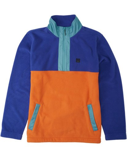 4 Boundary Mock Lite Polar Fleece Blue M6403BAT Billabong