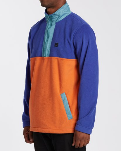 1 Boundary Mock Lite Fleece Blue M6403BAT Billabong
