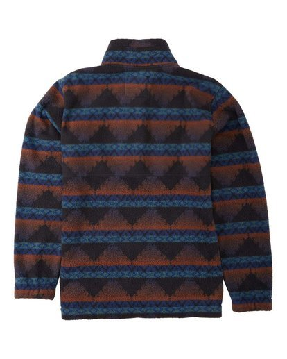 1 Boundary Mock Neck Fleece Blue M6403BBM Billabong