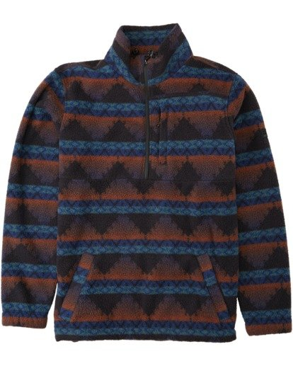 0 Boundary Mock Neck Fleece Blue M6403BBM Billabong
