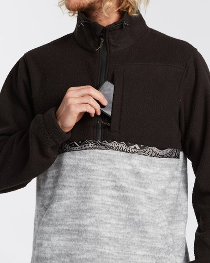 3 Boundary Mock Neck Fleece Black M6403BBM Billabong