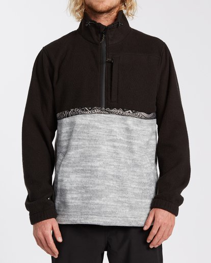 0 Boundary Mock Neck Fleece Black M6403BBM Billabong