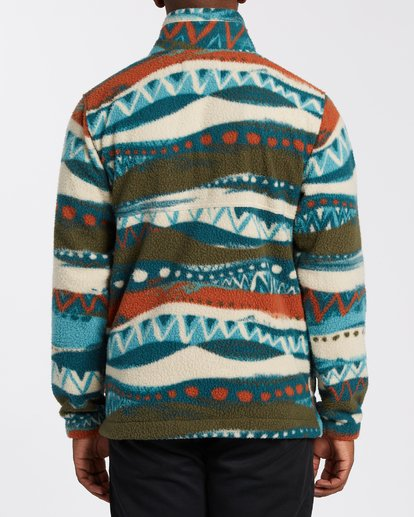 2 Boundary Mock Neck Fleece Red M6403BBM Billabong
