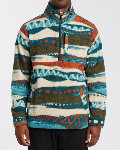 0 Boundary Mock Neck Fleece Red M6403BBM Billabong