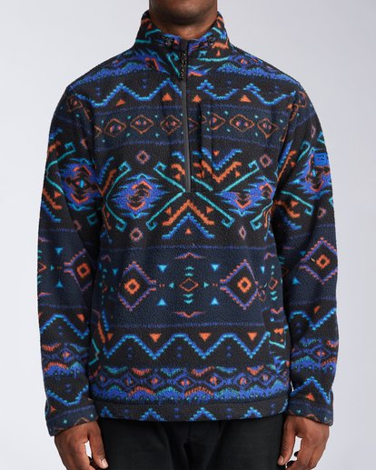 0 Boundary Mock Neck Fleece White M6403BBM Billabong