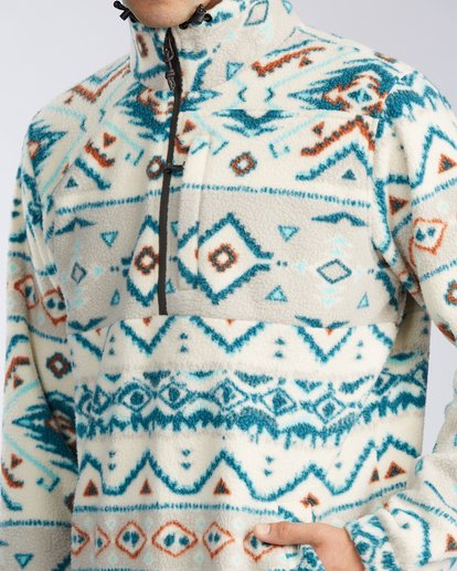 3 Boundary Mock Neck Fleece Beige M6403BBM Billabong
