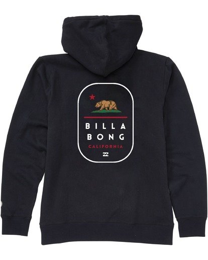 1 California Tour Pullover Hoodie Black M6403BCR Billabong