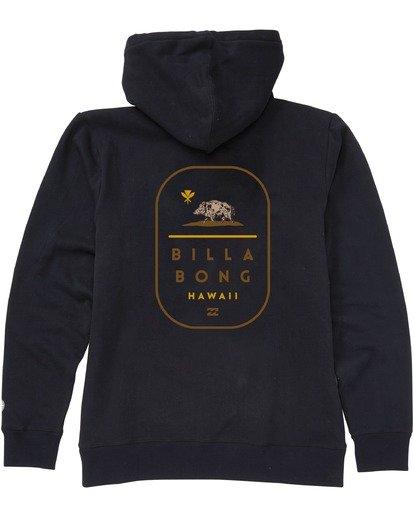 1 Hawaii Tour Pullover Hoodie Black M6403BRH Billabong