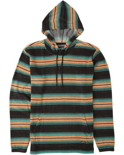 4 Flecker Sancho Pullover Hoody Black M6403BSA Billabong
